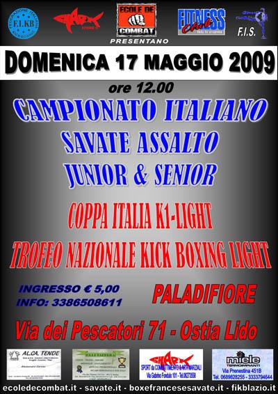 Affiche Finales Italie - Lido di Ostia - www.ecoledecombat.it - Roma.